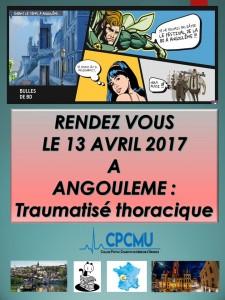 Journée Thématique CPCMU : Traumatisme Thoracique @ CPCMU   Angoulême   Aquitaine-Limousin-Poitou-Charentes   France
